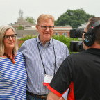 Mike ?73 and Ann Doherty Kramer ?73 are interviewed about meeting at Monmouth College as undergra...