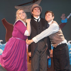 Galen Hughes (Jane), Miles Rose (Barnaby) and Conner DeVilder (Alan) rehearse a scene from ?Savin...