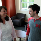 Alex Hewit ?17 of Mapleton, Ill. (right) will work with Professor Joan Wertz (left) to study how ...