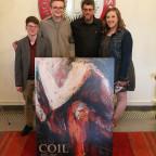 The three student editors of COIL, Monmouth College?s literature and arts magazine, are pictured ...