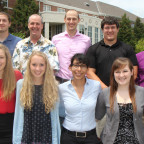 Monmouth College chemistry professors Laura Moore, Michael Prinsell, Audra Sostarecz and Brad Stu...
