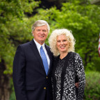 Monmouth College President Clarence R. Wyatt, pictured with First Lady Lobie Stone, is the speake...