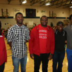 Pictured after the Pain Is Temporary leaders spoke to Central Intermediate School students are, f...