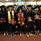 The Class of 2015 received its diplomas in May. A recent survey shows 99 percent of the class in ...