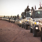 A caravan of ISIS militants travels through Tunisia (photo by CNN)