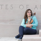 Acclaimed Syrian violinist Mariela Shaker, a 2015 graduate of Monmouth College