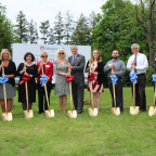 Pictured at the groundbreaking ceremony on May 15 are, from left, Harold ?Knap? Knapheide and his...