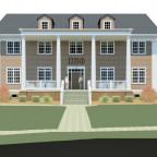 An architect?s rendering of the new Pi Beta Phi chapter house