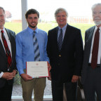 Dustin Atwood, a junior economics major from Henderson, is the first recipient of the Tom Johnson...