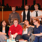 The cast of ?Stop Kiss,? which opens Feb. 26 at the college?s downtown Fusion Theatre, includes, ...