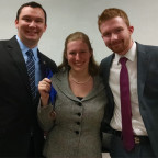 Students John Wells, Aimee Miller and Cole Downey are pictured after competing at the Mid-America...