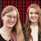 Makayla Jibben of Green Valley, Ill., and Celeste Lythgoe of Lafayette, Colo., are the Trustee...
