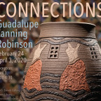 ?Connections? features quilts and ceramics by Guadalupe Lanning Robinson and poetry by her husban...
