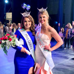 Emma Hildebrand ?21 is pictured at the Jan. 4 Miss Quincy pageant with last year?s winner, Jessic...