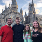Stockdale Fellows, from left, Grant Miller, Liam Meyer, Emma Johanns and Kailey Woolard took a si...