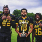 Former Fighting Scots stars, from left, Lamar Watson, Hayden Nelson and Deandre Wright helped lea...