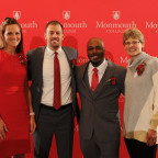 The 2019 M Club Hall of Fame inductees are, from left, Ashley Yeast Tanney ?08, Mitch Tanney ?06,...