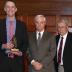 Andrew Heath, second from left, presented the 25th annual Wendell Whiteman Memorial Lecture. Join...