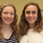 Ali Gustafson, left, and Kate Saulcy are both headed to medical school after they graduate from M...