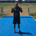 Thomas Witty ?21 has been a summer intern at the Indianapolis Colts? summer camp in Westfield, In...