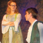 Noah Harshbarger (Demetrius), from left, Samantha Roberts (Helena), Ryan Emmons (Lysander) and Am...