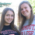 Julia Oakson, left, and Shannon Wilbourne are the first students to be named William J. and Bever...