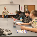 Boy Scouts from western Illinois and eastern Iowa attend a previous Merit Badge University sessio...