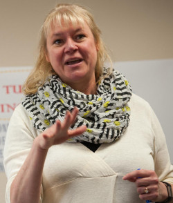 TRUDI PETERSON: Will lead talk about ?Modern Slavery and Human Trafficking? at 7:30 p.m. Feb. 19.