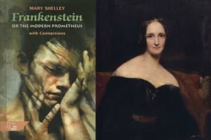 BICENTENNIAL BIRTH: Mary Shelley, right, published Frankenstein in 1818.