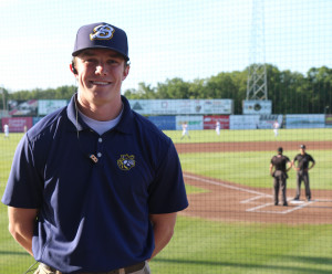 CAMPBELL QUICK: Hopes interning with the Class A Burlington (Iowa) Bees will help him launch a ca...