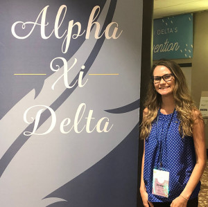 MAKING A DIFFERENCE: Monmouth chapter president Jordan Utter '20 attend Alpha Xi Delta's nati...