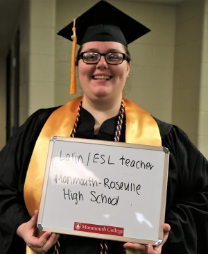 KEEPING LATIN ALIVE: Maddie Baker was hired to teach Latin in Monmouth-Roseville High School.
