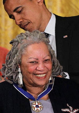 Toni Morrison receives the Presidential Medal of Freedom in 2012.