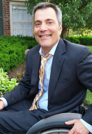 RON GOLD: Founded Lean on We after a bicycle accident left him paralyzed.