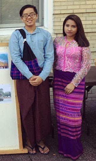 BURMESE ALUMNI: Monmouth graduates Kuang Khant Nyein '20 and Ei Ei Khine '18 are pictured...