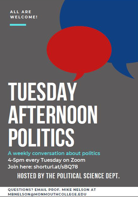 WHAT'S ON T.A.P.? It's 'Tuesday Afternoon Politics,' a weekly discussion series s...