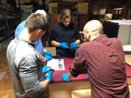 Students explore historical aspects of education in the archives of the Warren County History Mus...