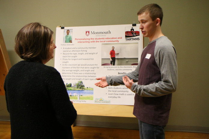 Mathematics major and TARTANS rural teacher corps member Nathan Schroeder '21 presents his vi...