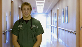 Jake Mefford ?10 works as a PA in local area hospitals.