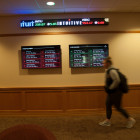 Keep up with the stock market in real-time on your way to class in the lobby of the Center for Sc...