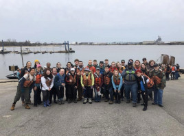 Stockdale Fellows spend their spring break helping clean up rivers with Living Lands and Waters i...