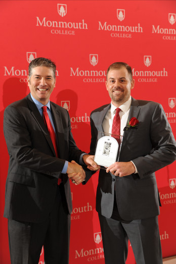 Mitch Tanney '06 at his induction into the M Club Hall of Fame, recognizing outstanding forme...