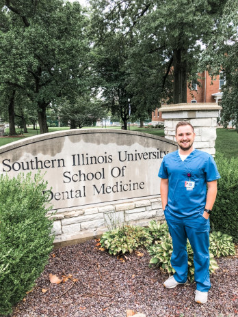 John Hanlon started his dental program at SIUE after graduating from Monmouth in 2017.