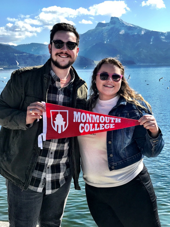 Ian Jefferson '20 and Hannah Synder '20 in Austria on the International Chorale trip.