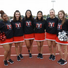 Monmouth College?s Red Hot Scots Dance Team ready to perform at a Fighting Scots football game in...